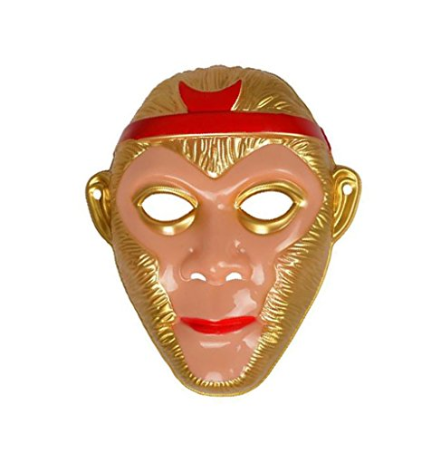 Medaa Sun Wukong Mask Monkey King Mask Adjustable Soft PVC Mask Custume Party Mask Children cosplay stage props