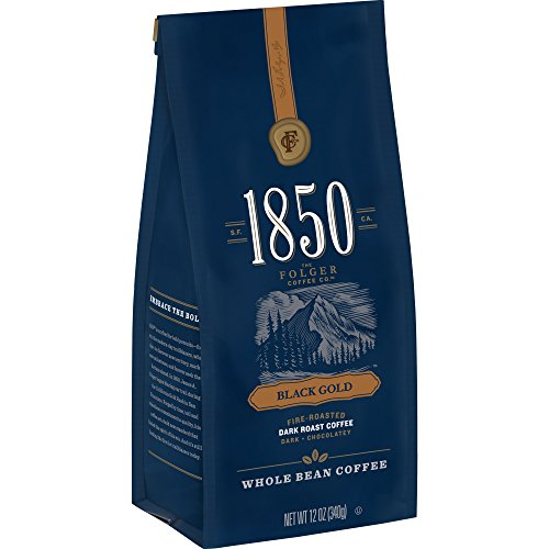 1850 Black Gold, Dark Roast Coffee, Whole Bean, 12 Ounces (Pack of - Gold Roast