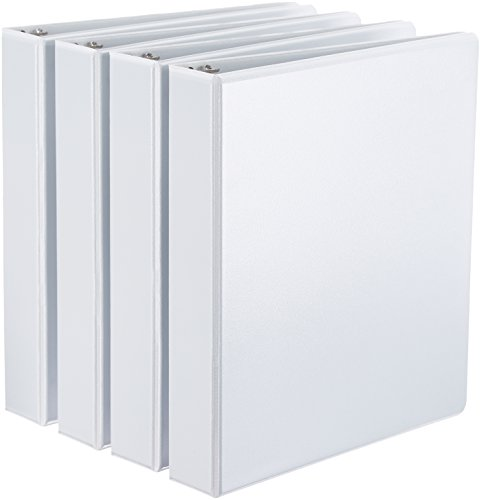 AmazonBasics D-Ring Binders - 1.5-inch, 4-Pack