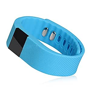 HiDeer TW64 Smartwatch Pedometer Fitness Activity Tracker Anti-lost for Android IOS Smartphones (Light Blue)