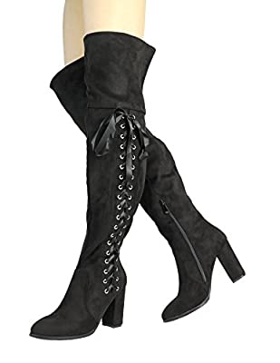 DREAM PAIRS Women's Over The Knee Thigh High Boots
