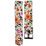 Fashion Clearance! Noopvan for Fitbit Charge 2 Straps Replacement Bands Adjustable Accessory Wristbands for Fitbit Charge 2 Large Small Variety of Colors Patterns (G)