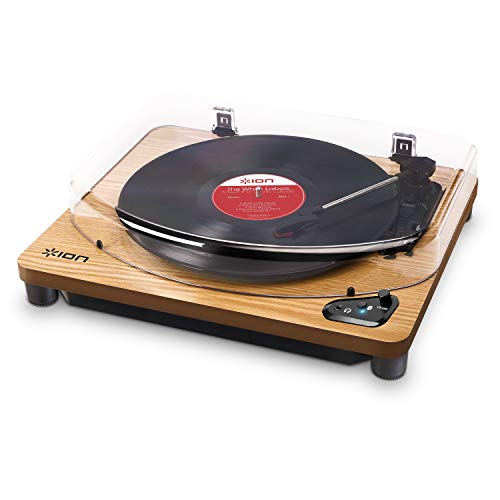 ION Audio Air LP – Vinyl platenspeler / Bluetooth draaitafel met USB-uitgang voor conversie en drie afspeelsnelheden…