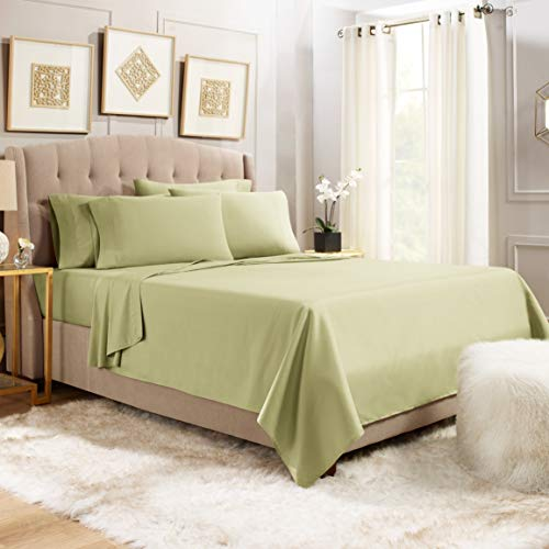 - Empyrean Bedding 6 Piece Bed Sheet Set - Heavyweight 110 GSM Strong & Soft Fabric - Tight Fit Extra Corner Straps 14