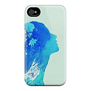 For Iphone 6 Phone Cases Covers(blue Girl Outline)