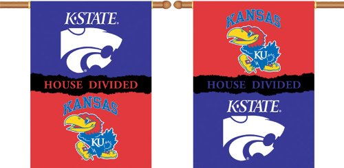 NCAA House Divided 2-Sided Banner NCAA Team: Kansas v. Kansas State