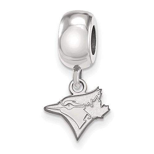 (MLB Toronto Blue Jays Sterling Silver MLB LogoArt Toronto Blue Jays XS Dangle Bead Size One Size)
