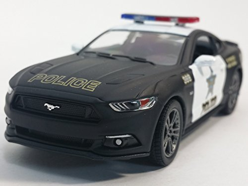 Kinsmart 2015 Ford Mustang GT Black & White State Police Squad Car 1/36 Scale Diecast Interceptor Black Ford Mustang Gt