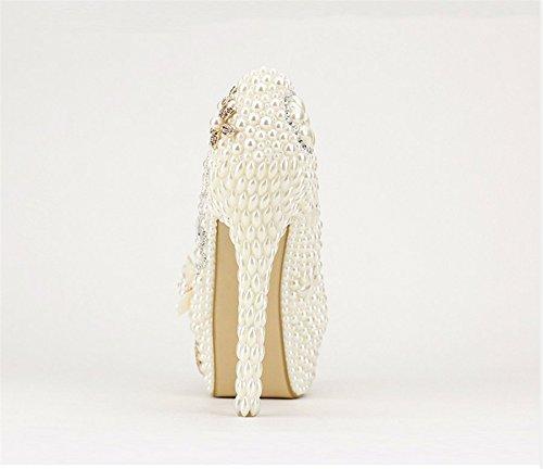Miyoopark , Semelle compensée femme - Beige - Ivory-14cm Heel, 35