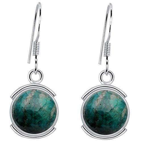 8 Ctw Amazonite Earrings By Orchid Jewelry : Hypoallergenic Dangle Earrings For Sensitive Ears, Nickel Free Wedding Earrings, Bridal Dangling Earrings, Sterling Silver Competition Earring -