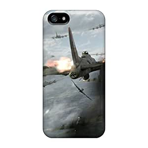 High Grade NikRun Flexible Tpu Case For Iphone 5/5s - Red Tails Shot Down In Flames