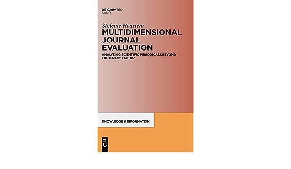 multidimensional journal evaluation haustein stefanie
