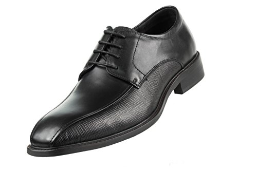 Asher Green Mens Black Brushed Calf Leather Bike Track Lace Up Oxford Dress Shoe: Style Jackson-000 - Track Style Leather