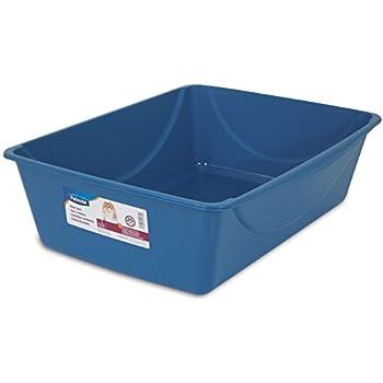 Petmate Litter Pan, Blue Mesa/ Mouse Grey, Jumbo