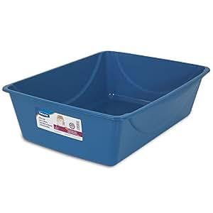 Doskocil Petmate Litter Pan, Blue Mesa/Mouse Grey, Jumbo
