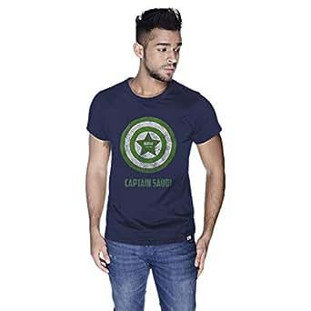 Creo Captain Saudi T-Shirt For Men - M, Navy