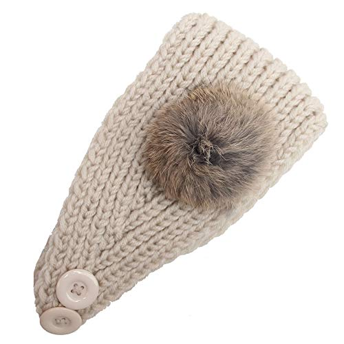 Knitting Turban Headband Crochet Camellia Flowers Hair Hoop Hairband ()