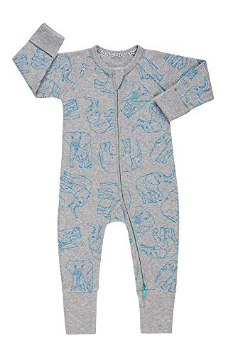 Bonds WONDERSUIT Zippy (Grey Elephant, 0-3 Months)