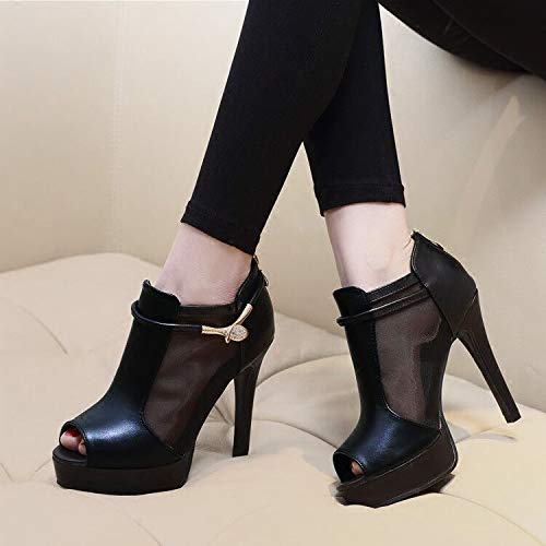 high shoes women's thin heel single fish shoes heels Thirty shoes waterproof tables mouth sandals nine Gauze LBTSQ 1qnAUwtw