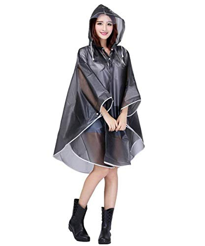 Vêtements Pluie De Grau Tranchée Transparente Imperméable Capuchon Dame Parka Casual Moto Femmes À L'eau Poncho Manteau qw4HI6