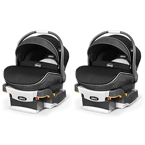 Chicco KeyFit 30 Zip Infant Car Safety Seat System with Base and Zipping Canopy (2 Pack)