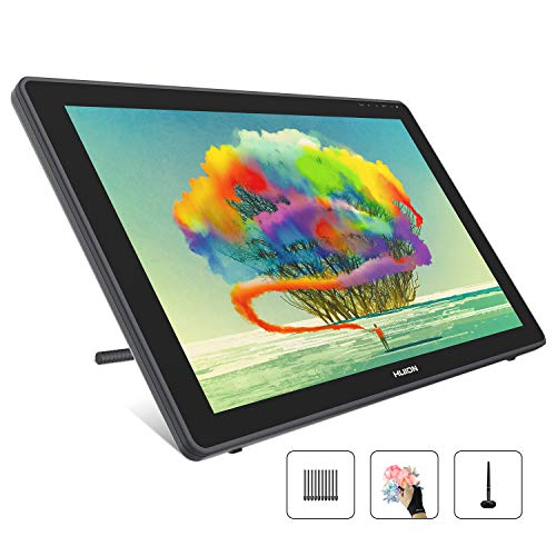 HUION Kamvas 22 Graphics Drawing Monitor Pen Display Drawing Tablet Screen Tilt Function 8192 Battery-Free Stylus, Come with Glove, Adjustable Stand,20 Pen Nibs -21.5 Inch