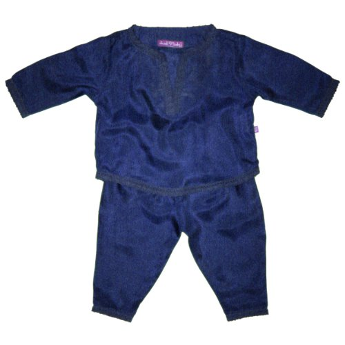 Diwali Baby Indian Infant Boys Outfit - 100% Silk - Indigo - 3-6 Months
