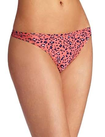 Felina Women's Papillon Low Rise Thong Panty Underwear, Tangelo Cheetah, Medium