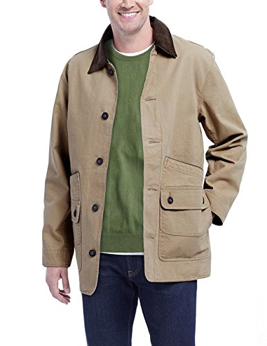 - New Orvis Men's Canvas Barn Field Jacket Quilted Liner Corduroy Collar. Brown. Size: Large