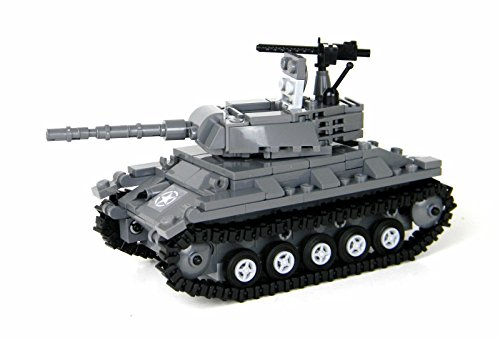US Army Chaffee Tank World War 2 Complete Set made w/ real LEGO bricks - Battle Brick Custom Set (Tank Real Army)
