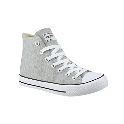 Top Unisex 36 Sneakers nbsp; Sneaker Sport Uomo Scarpe Scarpe High Donna Per Elara Tessile H8gFSxqg