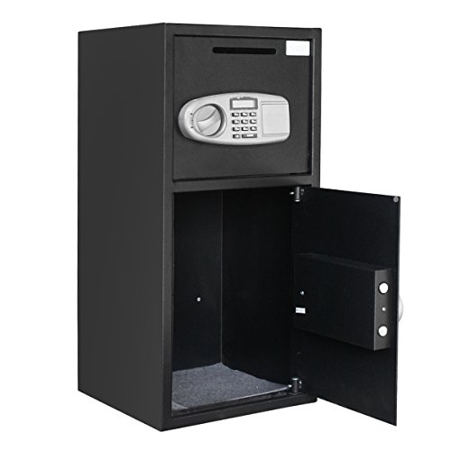 Large Security Safe Box Double Door Depository Drop Safe Box Security Lock Digital Safe for Money Gun Jewelry Home Secure