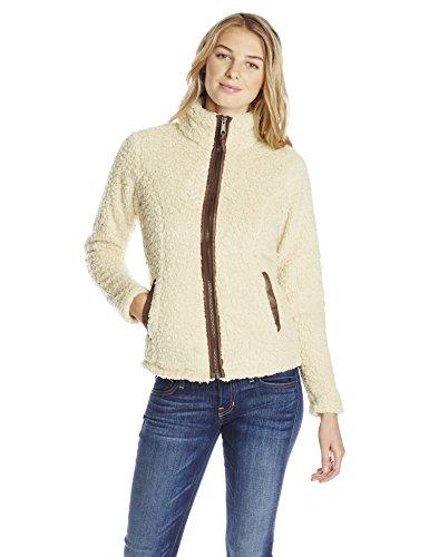 Jacket Sierra Casual - White Sierra Women's Wooly Bully Zip Jacket, Medium, Hummus