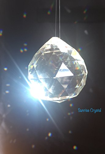 12 Pcs Crystal Clear Chandelier Ball Prism Rainbow Suncatcher Feng Shui/ Wedding Decor/ Ceiling Lamp Lighting Hanging Chandelier Drop 1.57 inch / 40mm