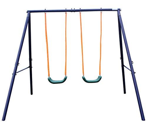 Movement God Metal A-Frame Two Seat Swing (Metal Swing Set)