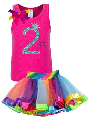 Bubblegum Divas Big Girls 8th Birthday Princess Crown Heart Tank Top Shirt