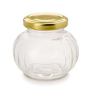 Bulk Buy: Darice DIY Crafts Jar with Metal Lid Clear Glass Melon Shape Holds 7 oz (6-Pack) 1095-98