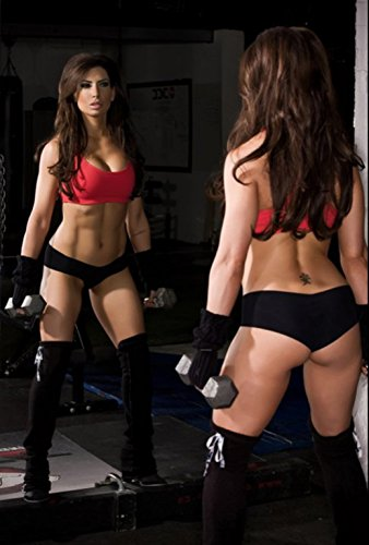 Sexy Women Fitness Bodybuilding Motivational Fabric Cloth Rolled Wall Poster Print -- Size: (20' x 13')