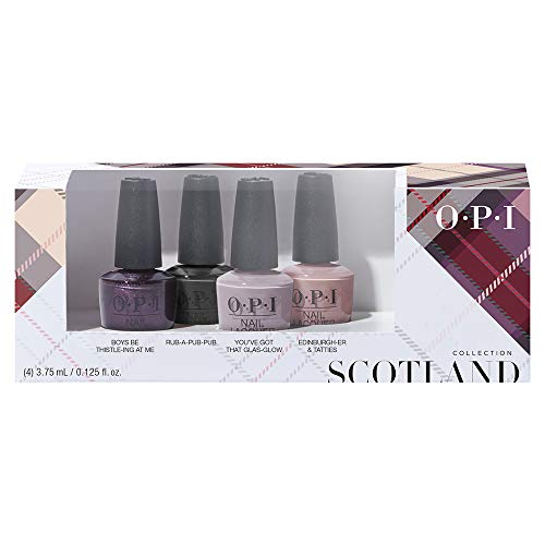 OPI Scotland Collection, Nail Lacquer 4 Piece Mini Pack, 0.5 fl. oz.