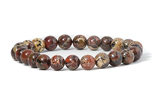 (Cherry Tree Collection Natural Semi-Precious Gemstone Beaded Stretch Bracelet 8mm Round Beads 7