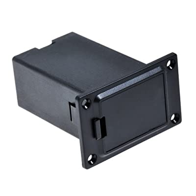 1pc Black 9v Battery Holder/case/box Compartment Cover Case Guitar&bass Pickup by Shenzhen Lotmusic Technology Co.,Ltd