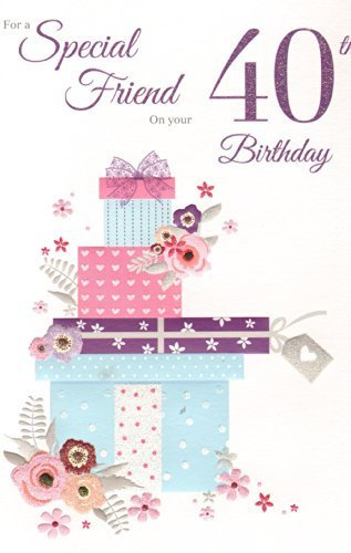 Amazon Special Friend On Your 40th Birthday Birthday Card By