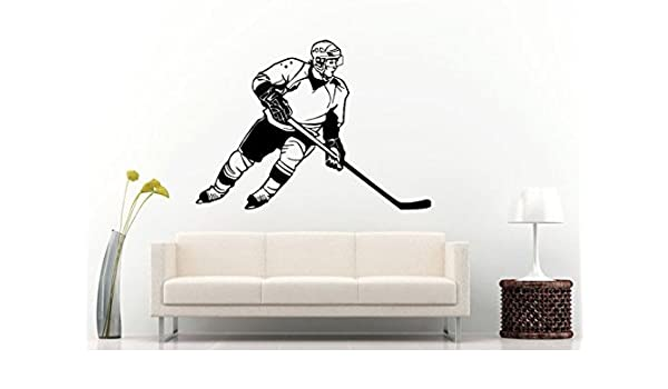 A good hockey player plays where the puck is wall decal — photo 2
