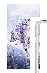 Samsung Galaxy S5 Snow Leopard Hunting PC Custom Samsung Galaxy S5 Case Cover White