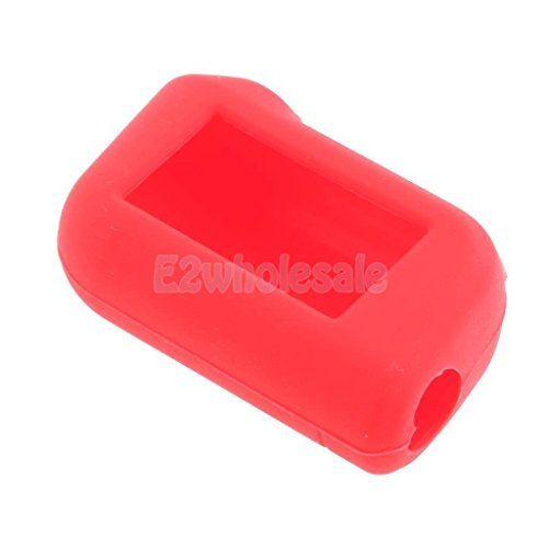Soft Two-Way Car Alarm Key Silicone Case Cover for Starline A63/A93 - Red
