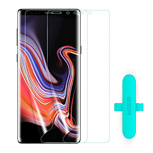ESR [2-Pack] Galaxy Note 9 Screen Protector, LiQuidSkin Soft TPU Full Coverage Screen Protector, Crystal Clear Skin Film [Case Friendly], [Bubble Free] with Easy Installation Kit for Samsung Note 9