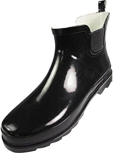 Norty - Ladies Ankle Rain Boots - For Women - Waterproof Rainboot For Winter Spring and Garden - Warm and Comfortable - Soles With Grip - Well Constructed