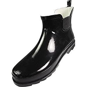 NORTY Ladies Ankle Rain Boots - For Women - Waterproof Rainboot For Winter Spring and Garden - Warm and Comfortable - Soles With Grip - Well Constructed
