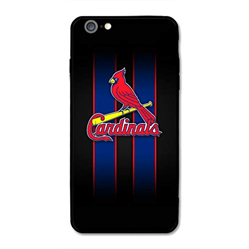 iPhone 6 iPhone 6s Bseball Case, Acrylic PC Back Cover TPU Silicone 2 in 1, Phone Case Designed for Apple iPhone 6/6S 4.7 Inch (Black St-Cardinals)