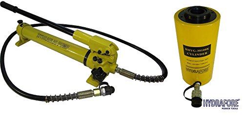 (Hydraulic Hand Pump with Single-acting Hollow Ram Cylinder (30tons 4